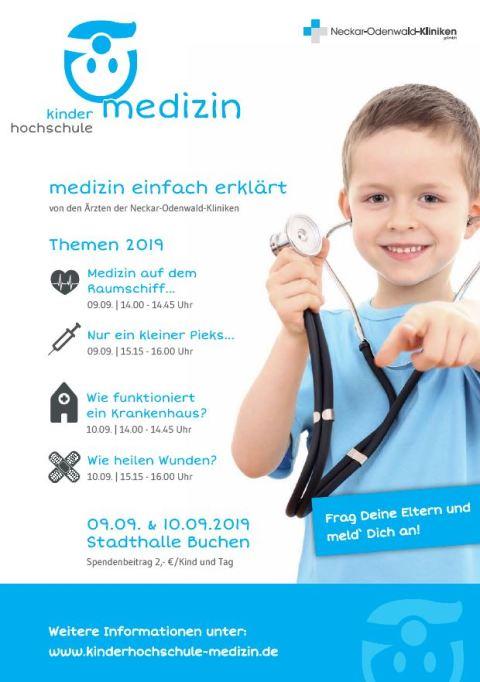 Kinderhochschule Medizin_Plakat 2019_Buchen